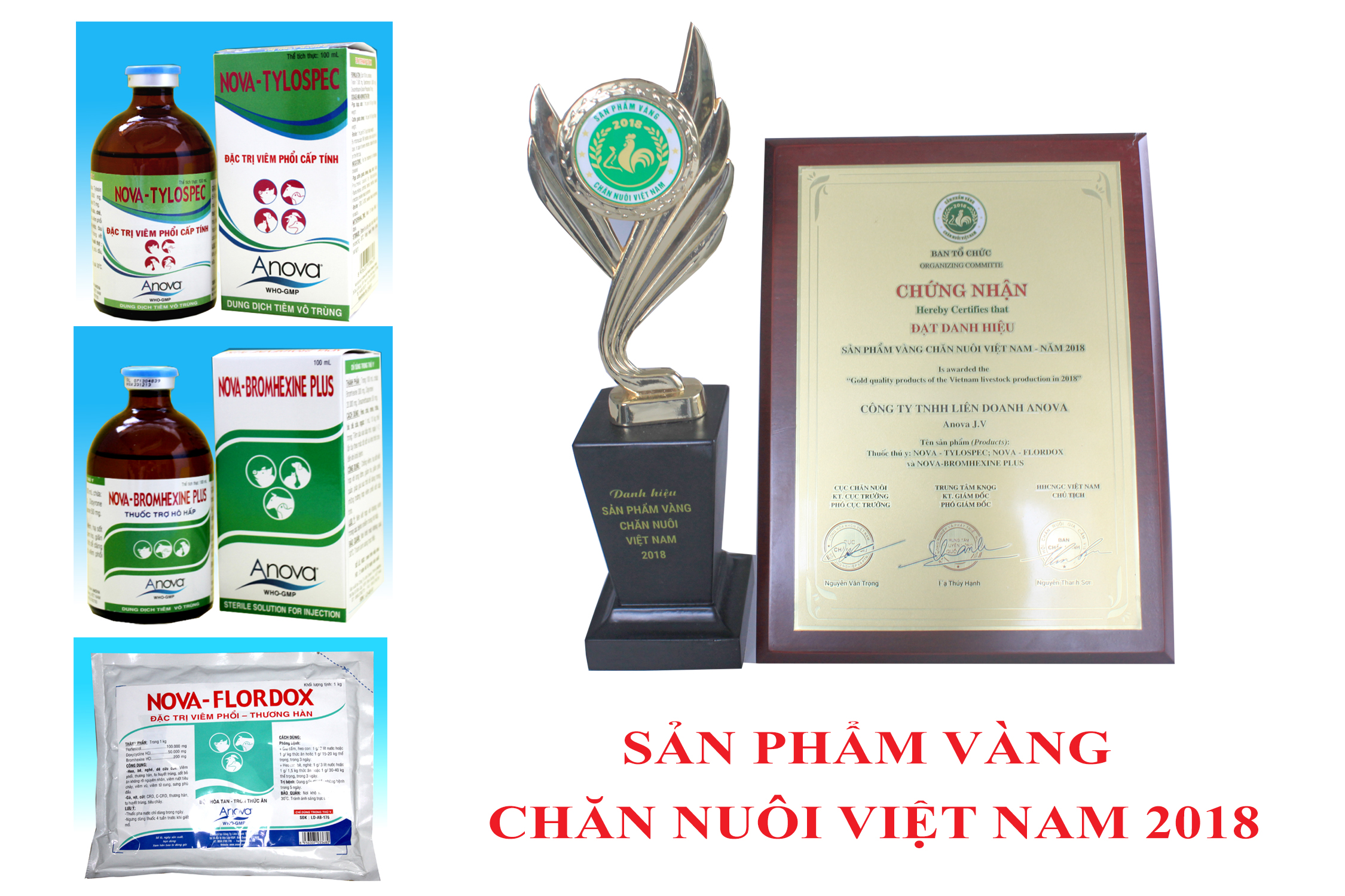 "ANOVA RECEIVED THE CERTIFICATE OF "" GOLD PRODUCT LIVESTOCK VIETNAM 2018""."